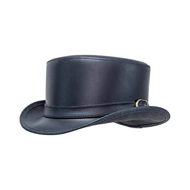 1267a6edb57 American Hat Makers Bromley-Carriage Band by Steampunk Hatter Leather Top  Hat