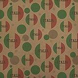 Italia Italy Italian Flag Premium Kraft Gift Wrap Wrapping Paper Roll