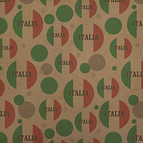 Italia Italy Italian Flag Premium Kraft Gift Wrap Wrapping Paper Roll by Graphics and More (Image #3)