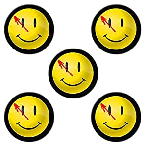 Watchmen smiley Custom Style Classic Cork Pad Mat-Round Coasters 5 Piece Set Cup Mat Mug Can Water Bottle Drink kichen house