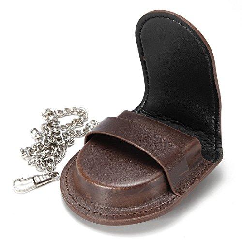 Romario Groomsmen PTO161641833582 Retro Leather Pocket Watch Holder Storage Case Box Coin Purse Pouch Bag, High Grade PU Leather (Holder Pocket Leather Watch)