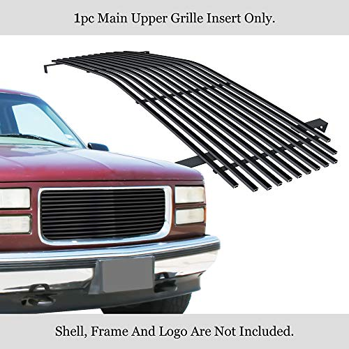 APS Fits 1994-1999 GMC Suburban/Yukon/CK Pickup Stainless Black Billet Grille Insert 8x6 Wide -