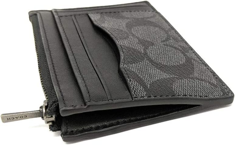 6x9\u201d black zippered leather pouch