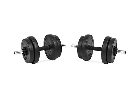 Generic - Juego de Pesas de Metal (20 kg, 2 Unidades, 10 kg, 20 kg ...