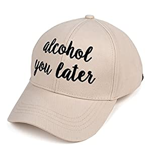 C.C Exclusives Embroidered Lettering Cotton Baseball Cap (BA-2017)