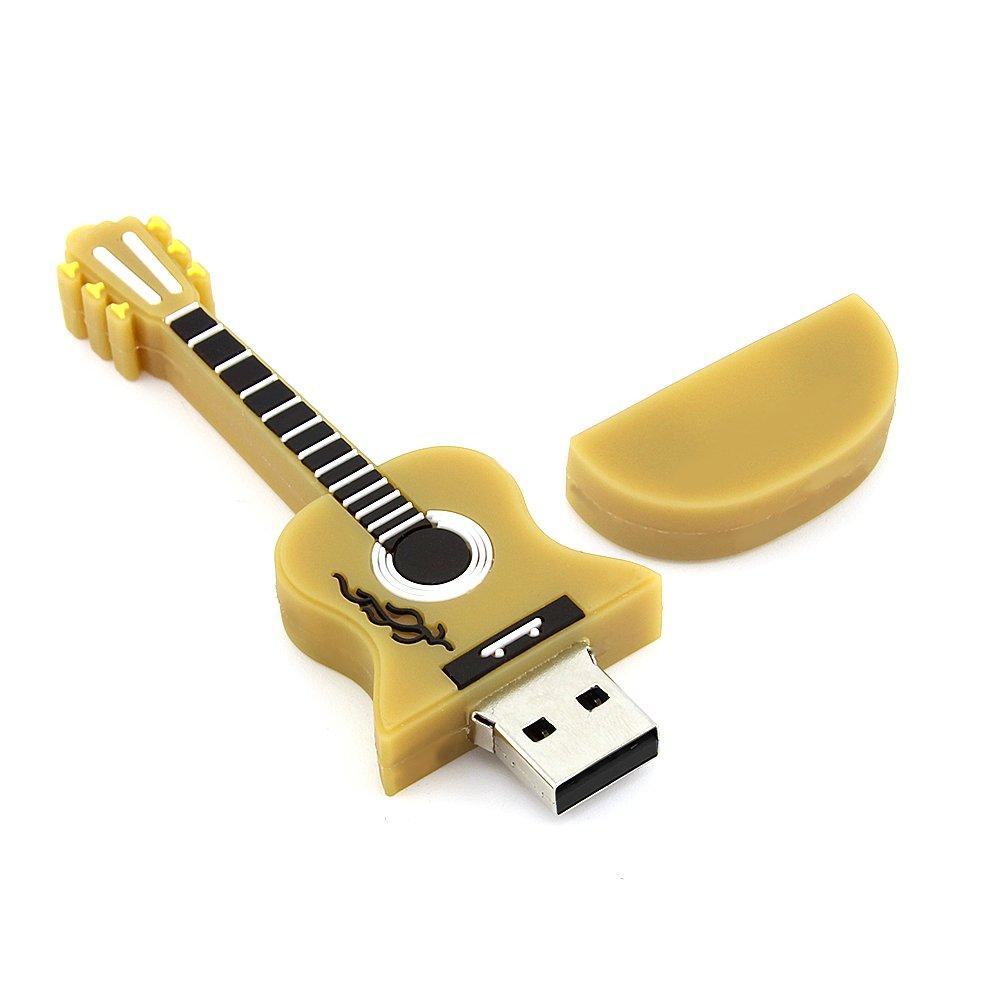 Amazon.com: usbkingdom 8 GB 8 G púrpura Guitarra Forma ...