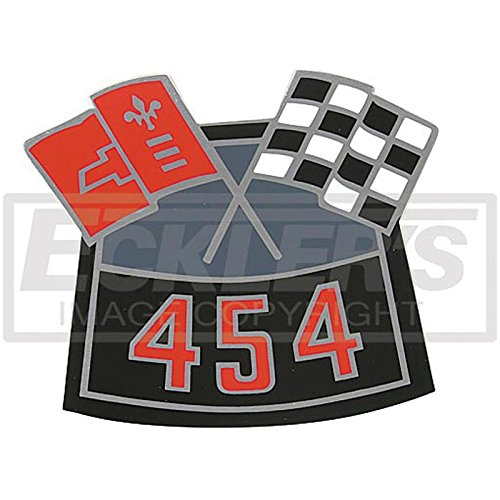 Eckler's Premier Quality Products 55191929 El Camino Air Cleaner Decal Big Block 454 Cross Flag ()