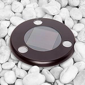 GreenLighting Solar Flat In-Ground Driveway Light Set 12 Pack (Remington Bronze)