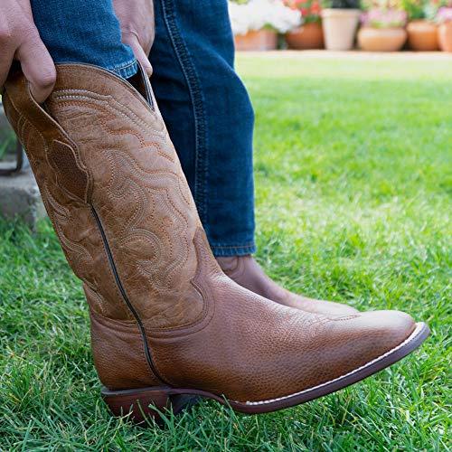 Soto Boots Men's Broad Square Toe Cowboy Boots H9001