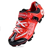 Smartodoors SIDEBIKE Breathable MTB Cycling Shoes Adjustable Road Bike Shoes for Mountain Bike Racing MTB Bike Shoe (MTB-Red Black,US8/EU41/Ft25.5cm) Review