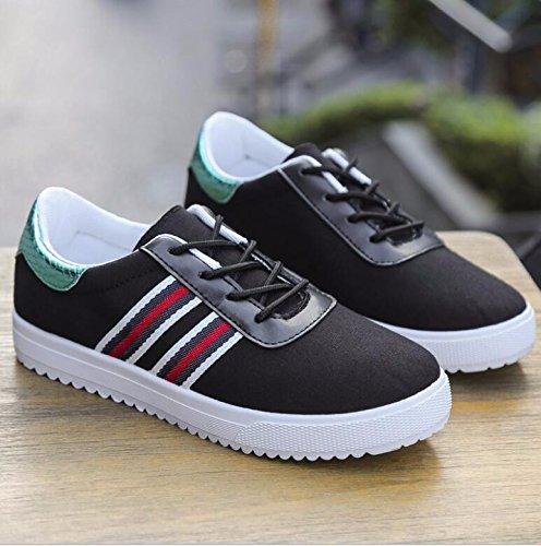 Mujer Deportes De Zapatos 40 Calzado Mujer 35 De Casual Negro Casual Deportes Zapatos KHSKX Plano Pq8gwfRq