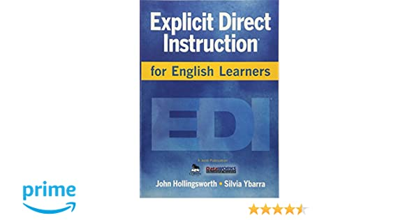 Amazon Explicit Direct Instruction For English Learners