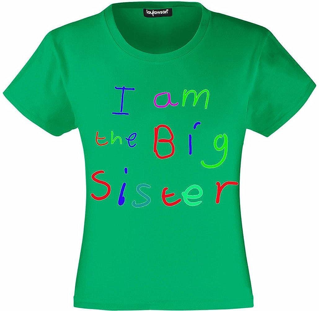 Big Sister T-Shirts Girls Kids I Am The Big Sister T Shirt Tee Top T Shirt