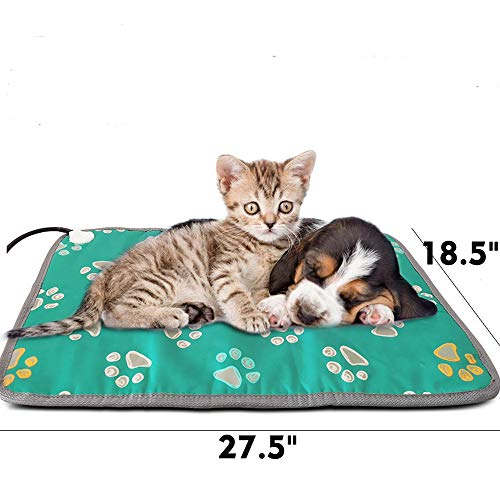 Large Dog Heating Pad Electric Dog Heated Blanket Cats Indoor Outdoor Pet Thermal Pad Large Dog Warming Bed Heated Bed with Thermostat Water Resistant Whelping Heating Pad for Puppies Pregnant Dogs (Pad Outdoor Heat)