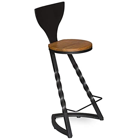 Amazon.com: Industrial Barstools Chair Footrest with ...