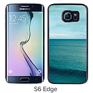 New Beautiful Custom Designed Cover Case For Samsung Galaxy S6 Edge With Sky And Sea Phone Case