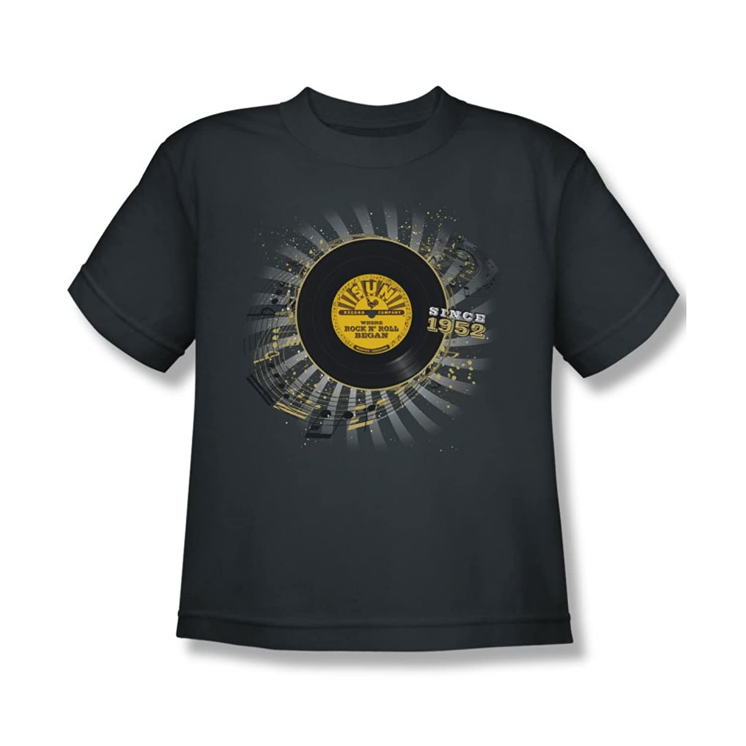 Sun Records - Established Youth T-Shirt In Charcoal