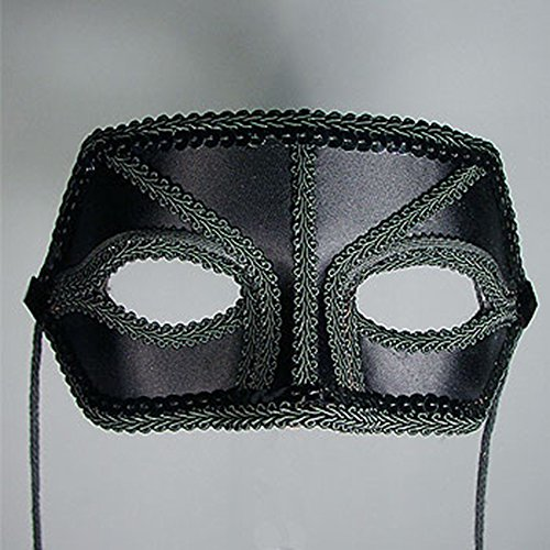 Harmony Black Satin Masquerade Mask