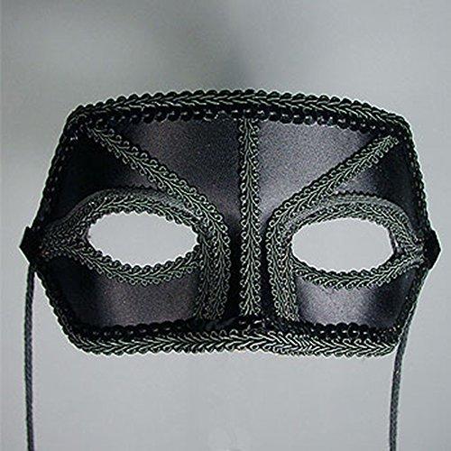 Harmony Black Satin Masquerade Mask]()