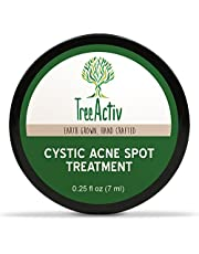 TreeActiv Cystic Acne Spot Treatment, Best Extra Strength Fast Acting Formula for Clearing Severe Acne from Face and Body, Gentle Enough for Sensitive Skin, Adults, Teens, Men, Women (5ml)