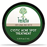 Cleansing Oil Cystic Acne - TreeActiv Cystic Acne Spot Treatment, Best Extra Strength Fast Acting Formula for Clearing Severe Acne from Face and Body, Gentle Enough for Sensitive Skin, Adults, Teens, Men, Women (0.25 Ounce)