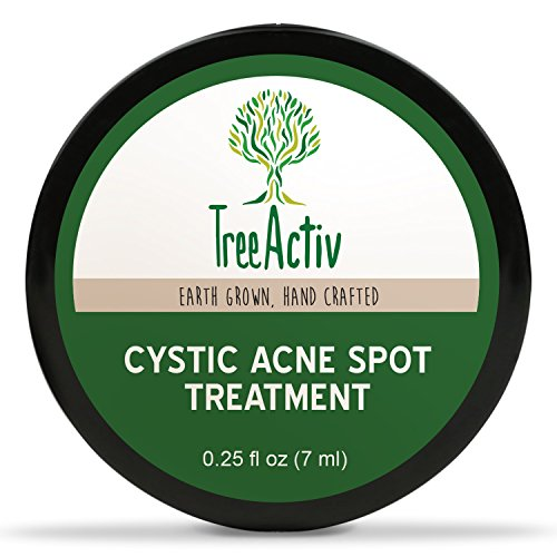 Best Acne Treatments (TreeActiv Cystic Acne Spot Treatment, Best Extra Strength Fast Acting Formula for Clearing Severe Acne from Face and Body, Gentle Enough for Sensitive Skin, Adults, Teens, Men, Women (0.25 Ounce))