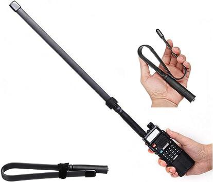 Antena táctica SMA-Female de Doble Banda VHF UHF 144 ...