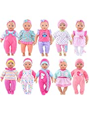 10 Sets Total 26 Pcs Doll Outfits Clothes Accesories for 10 inch Baby Dolls ,12 inch Alive Baby Dolls New Born Baby Dolls