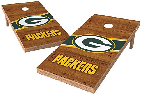 PROLINE NFL Green Bay Packers 2'x4' Cornhole Board Set with Bluetooth Speakers - Logo Design by PROLINE