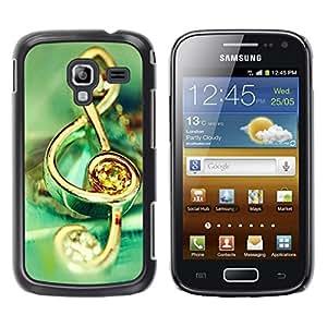 TopCaseStore / la caja del caucho duro de la cubierta de protección de la piel - Music symbol jewelry - Samsung Galaxy Ace 2 I8160 Ace II X S7560M