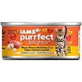 Iams PURRFECT DELIGHTS Flaked Adult Wet Cat Food - Chicken - 3 oz. (Pack of 24)