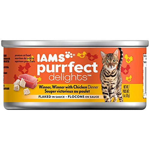 Iams Purrfect Delights Flaked Adult Wet Cat Food, Chicken, 3 Oz. (Pack Of ()