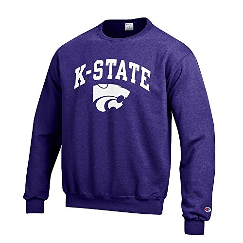 (Elite Fan Shop NCAA Kansas State Wildcats Men's Team Color Crewneck Sweatshirt, Purple, Medium)