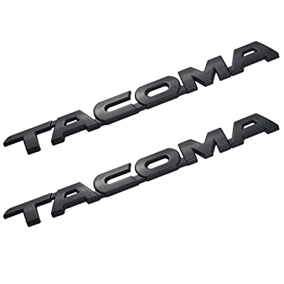 2 Pack Tacoma V6 SR5 Trunk Car Door Tailgate Decal Emblem Sticker Badge Replacement for Tacoma 2005-2015 (Black): Automotive
