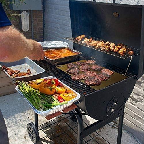 Goodtimera Tapis De Cuisson Barbecue, Tapis Barbecue Set, Réutilisable, Nettoyage Facile Et Anti-adhérent, (40x33cm)