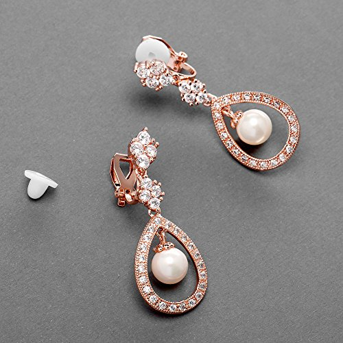 Mariell-CZ-and-Pearl-Drop-Vintage-Wedding-Dangle-Earrings-Art-Deco-Clip-On-or-Pierced-Style-for-Brides
