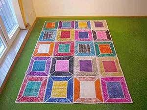Alfombra en patchwork multi 169x235 cm hogar - Alfombras cocina amazon ...