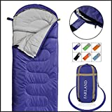 FARLAND Camping Sleeping Bag Adult 20 Degrees Fahrenheit Envelope Mummy Outdoor Lightweight Portable Waterproof Perfect Traveling,Hiking Activities(Purple/Right Zip, Rectangular)