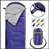 FARLAND Camping Sleeping Bag Adult 20 Degrees Fahrenheit EnvelopeMummy Outdoor Lightweight Portable Waterproof Perfect Traveling,Hiking Activities(Purple/Right Zip, Rectangular)