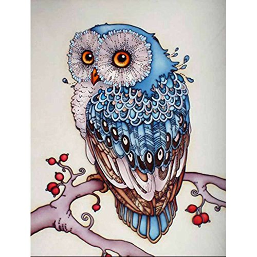 Adarl 5D DIY Diamond Painting Rhinestone Pictures Of Crystals Embroidery Kits Arts, Crafts & Sewing Cross Stitch NEW Tree Owl