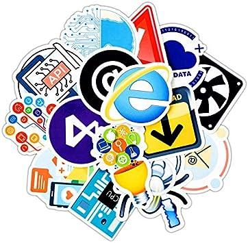 DADATU Pegatinas 30pcs Pack Programación Pegatinas Internet HTML ...
