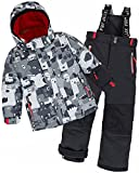 Deux par Deux Boys' 2-Piece Snowsuit Mechant Look Black, Sizes 4-10 - 6