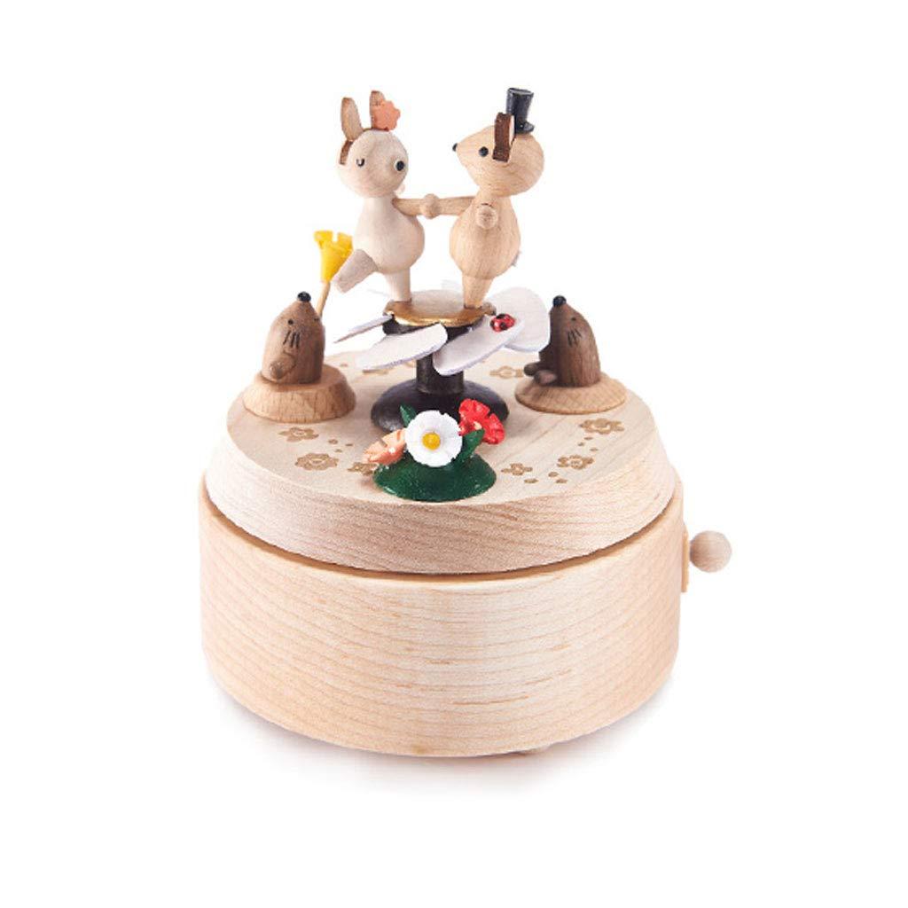 ZJ-Spieluhr Spieluhr Spieluhr Weißnachtsgeschenk für Kinder aus Holz