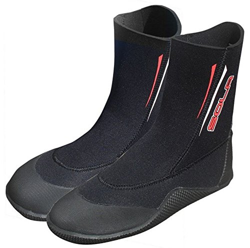 Diving Sailing AX' Polypro Boots Wetsuit 5mm Canoeing Re Jetski Neoprene Sola 01qnWw70
