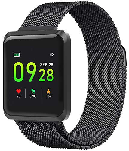 Smart Watch Heart Rate Fitness Tracker Blood Pressure Blood Oxygen Pedometer Watch Sleep Monitor Big Face Smartwatch for Men Women (Advocate Wrist Blood Pressure Monitor Automatic Kd 726)