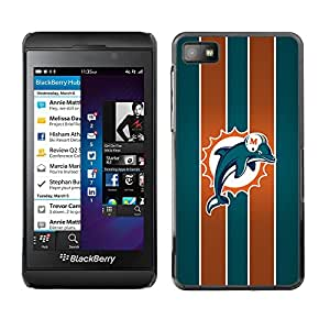 Design for Girls Plastic Cover Case FOR Blackberry Z10 Miami Dolphin OBBA