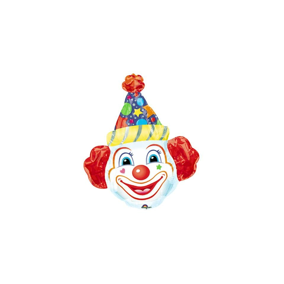 Crazy Clown Head Super Shape (1 per package)