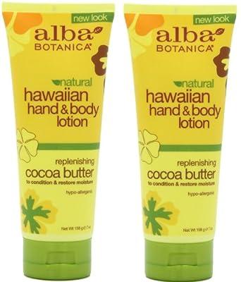 Alba Botanica Hawaiian Hand & Body Lotion, Cocoa Butter, 7 Oz / 200 Ml (Pack of 2)