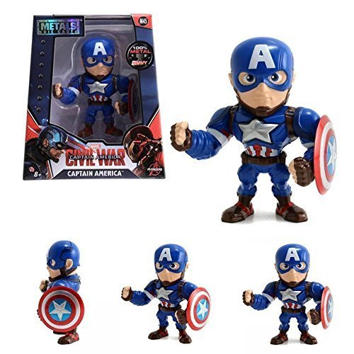 Jada Metals Die Cast 4 Inch Action Figure Avengers Captain America Civil War M45