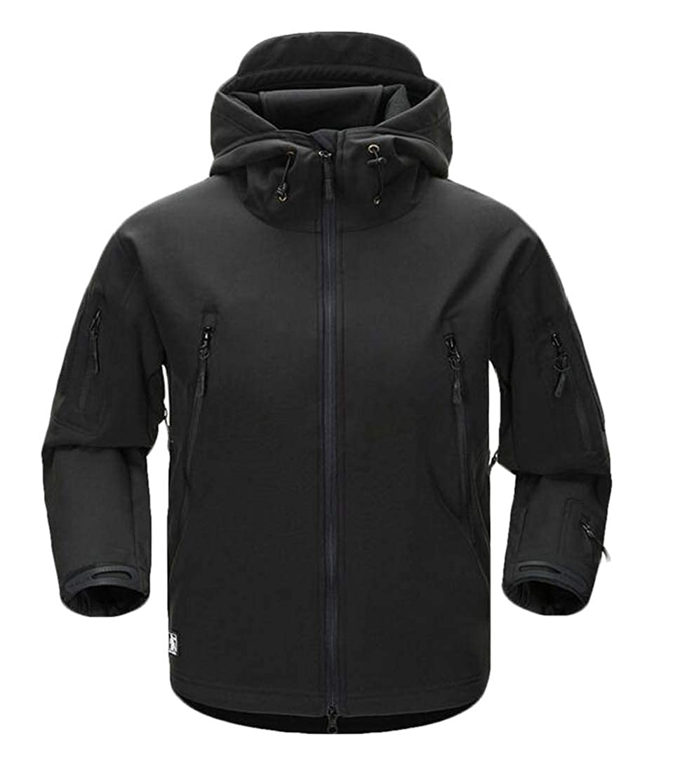 Zantt Men Windproof Mountain Hooded Stand Collar Waterproof Warm Jacket